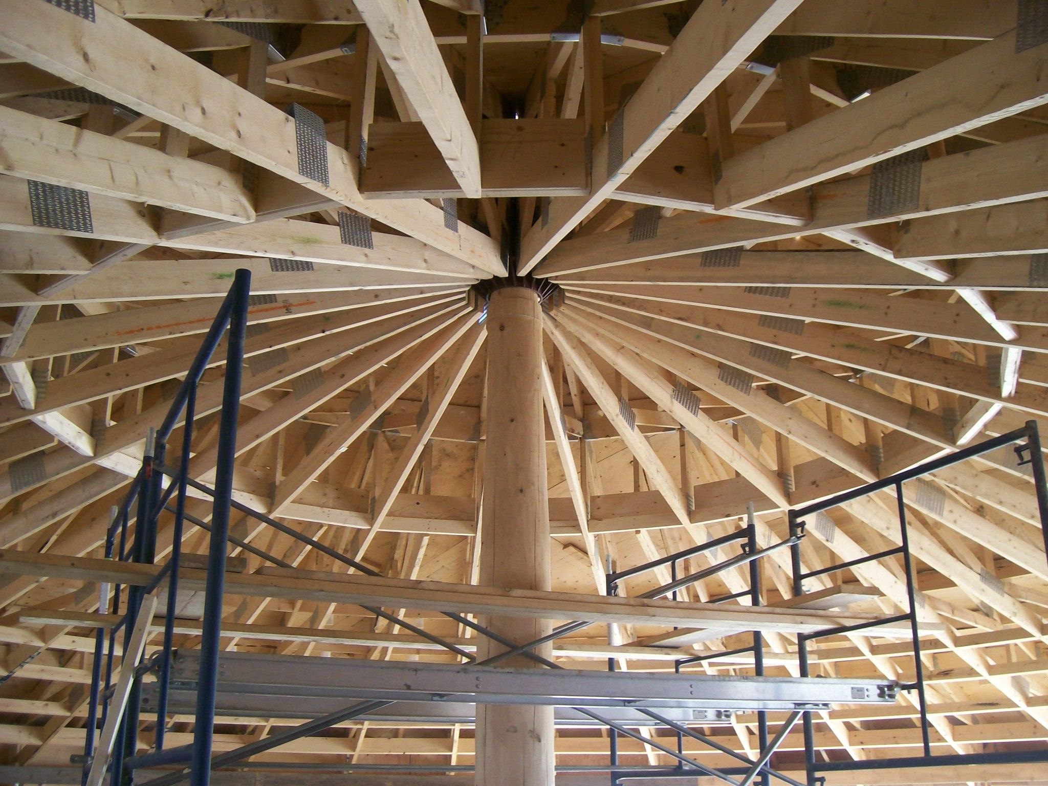 Solar Dragon House - Roof truss framing