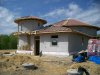 Solar Dragon House - After first stucco coat