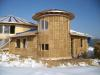 Solar Dragon House - Straw bale installation