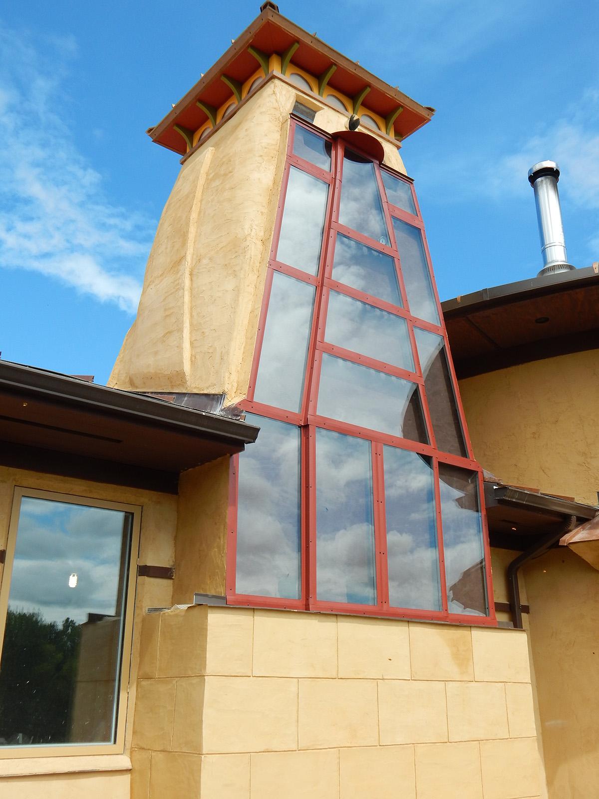 Solar Dragon House - Solar chimney