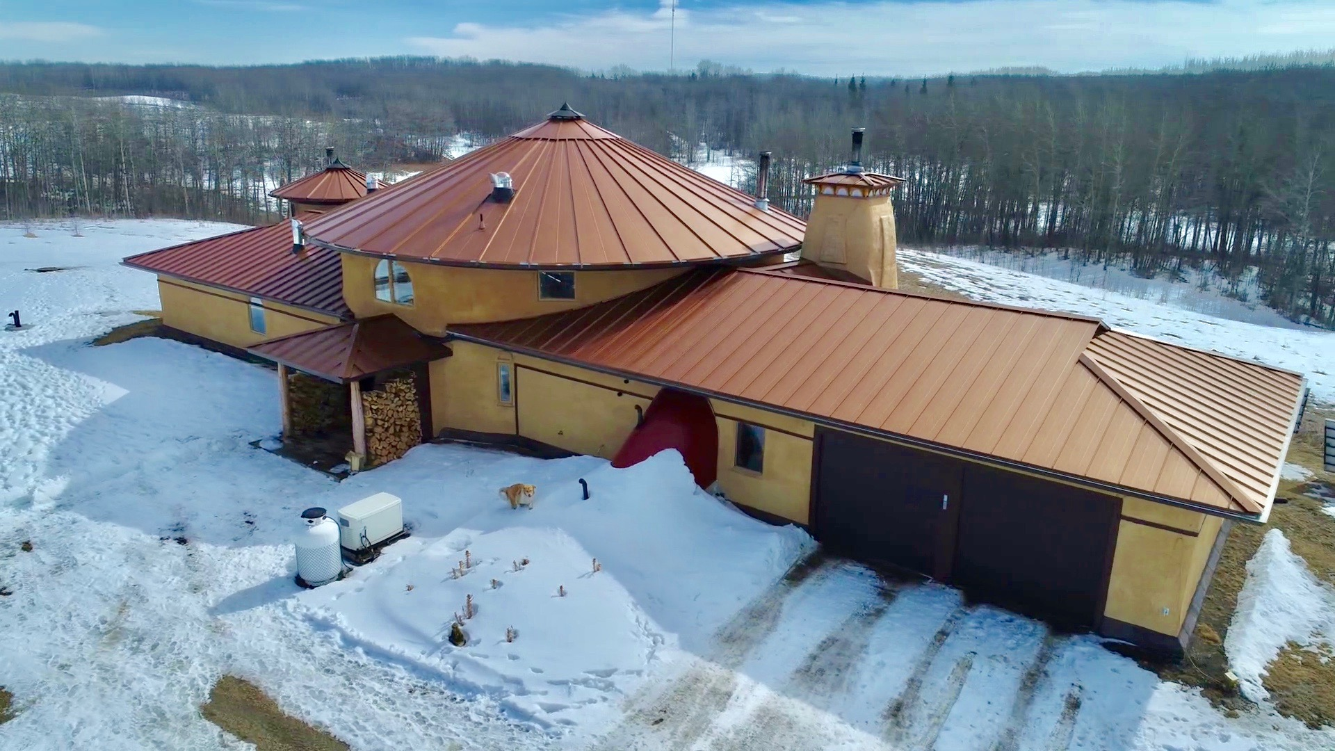 Solar Dragon House - Aerial North View